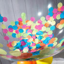 Personalised Rainbow Confetti Bubble Balloon additional 3