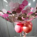 Personalised Rose Gold & Pink Confetti Bubble Balloon additional 2