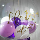 Personalised Purple Balloon-Filled Bubble Balloon additional 2