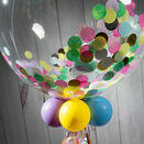 Personalised Unicorn Confetti Bubble Balloon additional 2
