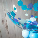Personalised Blue Confetti Father's Day Bubble Balloon additional 2
