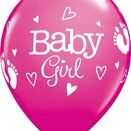 Pack of 6 Baby Girl Helium Quality Balloons additional 1