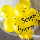 Personalised Smiley Faces Balloon-Filled Bubble Balloon additional 4
