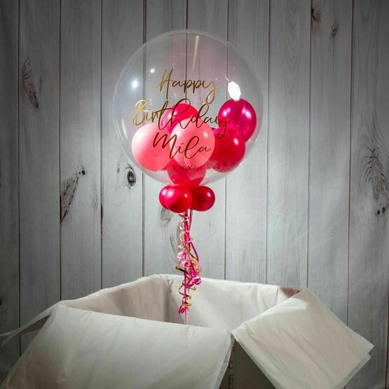 Happy Birthday Personalised Multi Fill Bubble Balloon