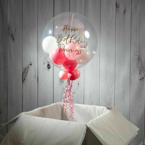 13th Birthday Personalised Multi Fill Bubble Balloon