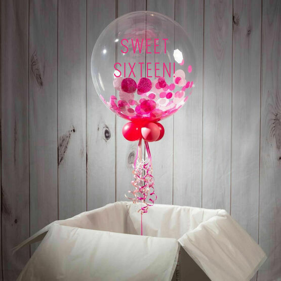 16th Birthday Personalised Confetti Bubble Balloon