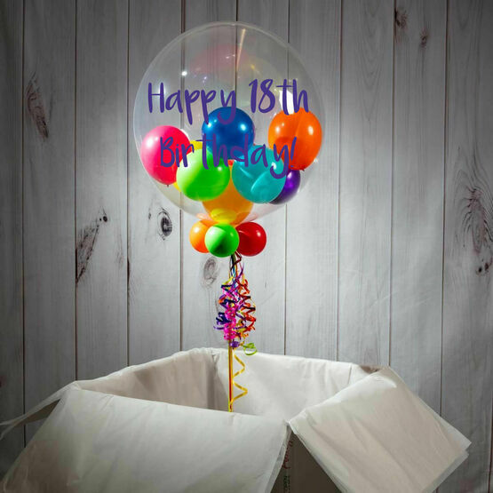 18th Birthday Personalised Multi Fill Bubble Balloon