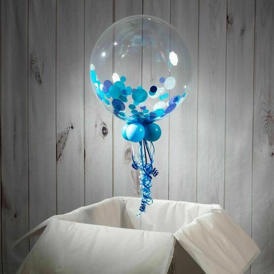 70th Birthday Personalised Confetti Bubble Balloon