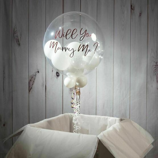 Wedding Day Personalised Multi Fill Bubble Balloon