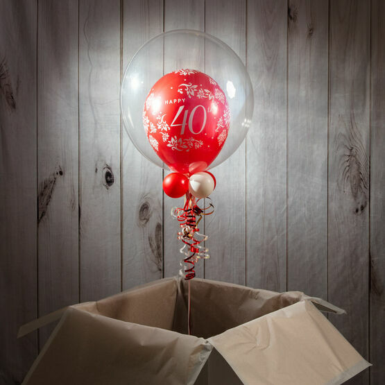 Happy 40th Anniversary Personalised Bubble Balloon