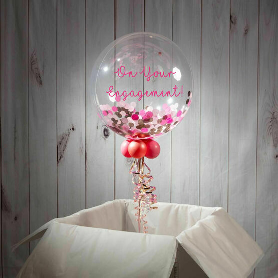 On Your Engagement Personalised Confetti Bubble Balloon