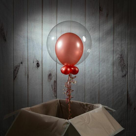 Boys Christening Personalised Bubble Balloon