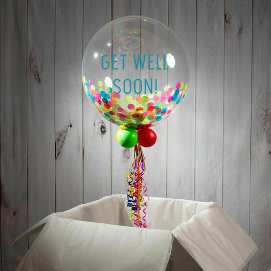 Get Well Soon Personalised Confetti Bubble Balloon