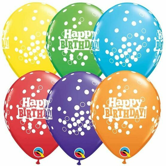 Pack of 6 Happy Birthday Balloons In Assorted Colours