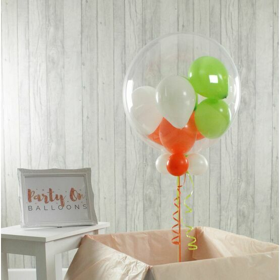 St Patrick's Day Personalised Multi Fill Bubble Balloon