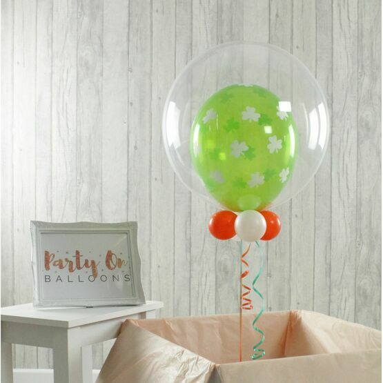St Patrick\'s Day Personalised Single Balloon Bubble Balloon