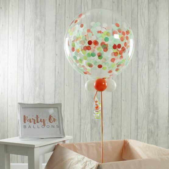 St Patrick's Day Personalised Confetti Bubble Balloon