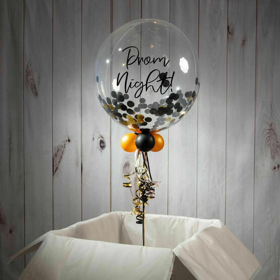 Personalised 'Prom' Confetti Bubble Balloon