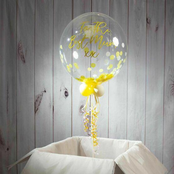 Personalised Summer Daisy Confetti Bubble Balloon