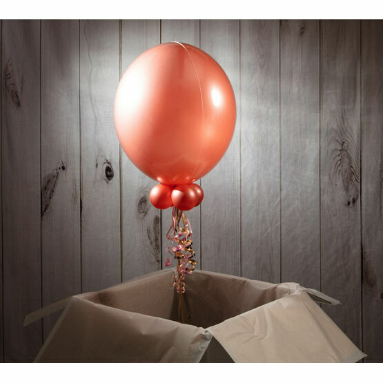 Solid Rose Gold Personalised Bubble Balloon