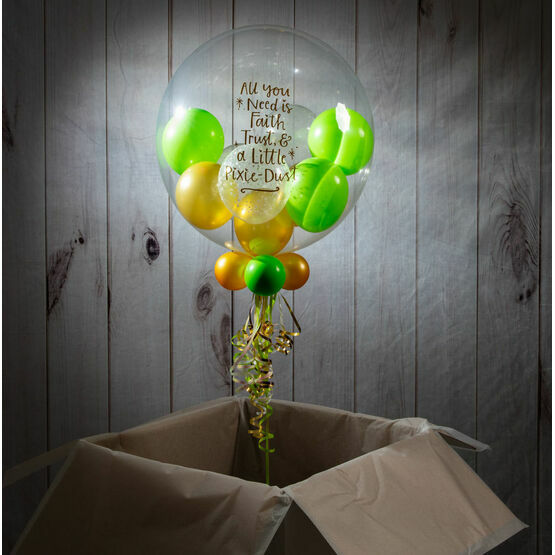 Personalised Tinkerbell Balloon-Filled Bubble Balloon